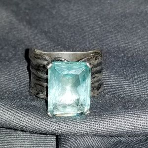 Silpada aqua glass ring R1608